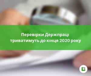 Перевірки Держпраці триватимуть до кінця 2020 року