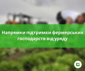 Напрямки підтримки фермерських господарств від уряду