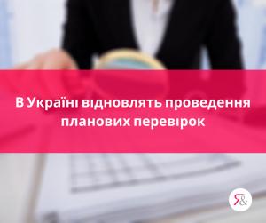 В Україні відновлять проведення планових перевірок